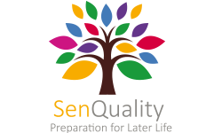 Senquality Logo with colors